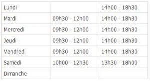 horaires-douverture-access medical