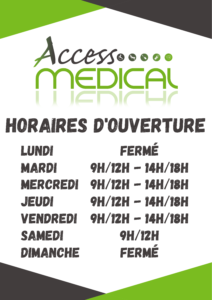 HORAIRES OUVERTURE ACCESS MEDICAL