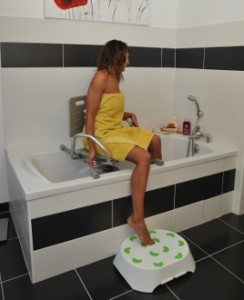 fauteuil de bain pivotant materiel médical grenoble Echirolles